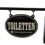 Uithangbord-Toiletten